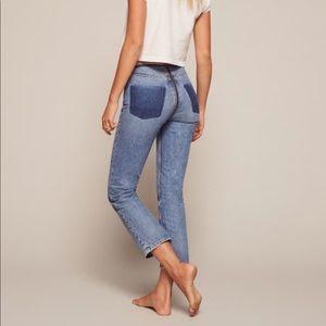 Reformation Brooke High Straight Zipper Jean